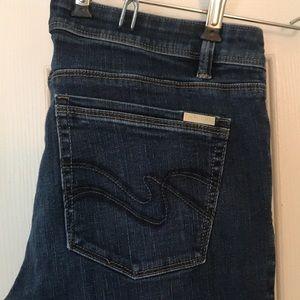 White House Black Market boot leg jeans 8 short